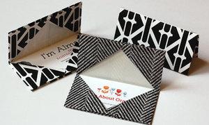 Gấp túi đựng card cực kỳ đơn giản