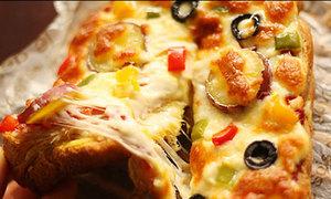 Lạ miệng bánh pizza khoai lang