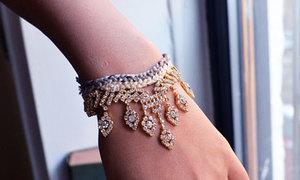 Cách làm vòng tay đính đá cực đẹp