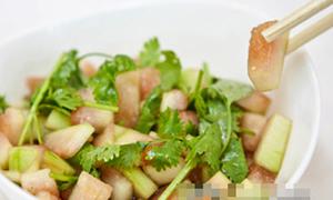 Cực hay dưa hấu trộn mát lạnh giảm béo