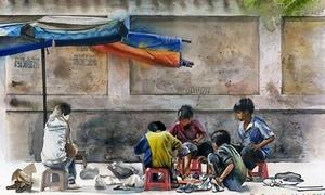 Họa sĩ Nhật vẽ Sài Gòn cực 'chất'