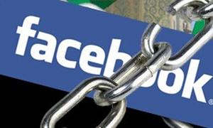 Cảnh báo với nút 'Block' trên Facebook