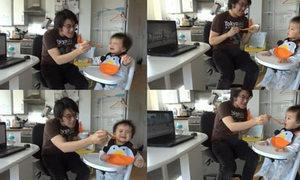 Bé 10 tháng tuổi chịu ăn khi xem 'Gangnam Style'
