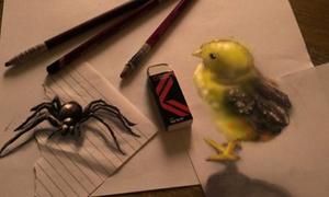 Bút chì thôi mà tạo tranh 3D đẹp nhỉ?