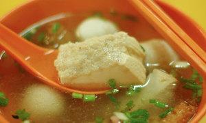 Du hí Singapore thưởng thức đậu phụ nhồi