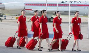 Tiếp viên hàng không Triều Tiên bầu bĩnh, dễ thương