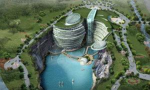 Xây dựng khách sạn ngầm hoành tráng dưới lòng đất