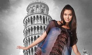 Thùy Dung ngả nghiêng cùng tháp Pisa