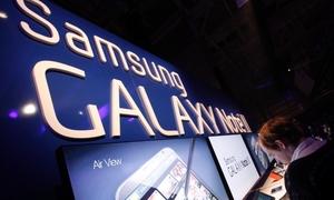 Galaxy Note II 'tấn công' lễ trao giải âm nhạc Mỹ