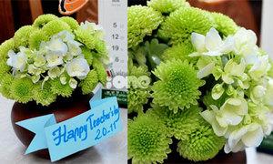 10 phút có ngay lọ hoa xanh thắm tặng thầy cô