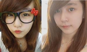 Cô bạn mắt tròn xinh như diễn viên Hàn Quốc