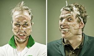 Những khuôn mặt dị dạng vì băng dính