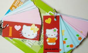 Bộ thiệp học hành hình mèo Kitty dễ thương