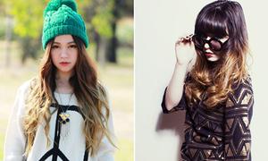Teen Lookbook đua nhau nhuộm tóc loang, màu lạ
