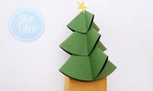 Trang trí cây thông Noel trên hộp quà
