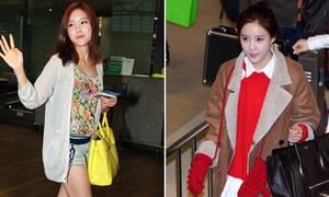 Hyomin T-ara đổi túi xách chóng mặt
