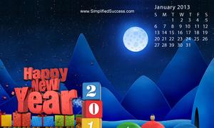 Hình nền siêu xinh đón năm mới 2013