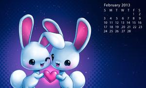 Đón tháng 2 ngọt ngào với hình nền dễ thương