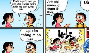 Ảnh chế chuyện tình cảm của Nobita và Xuka