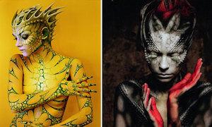 Cô gái hóa người ngoài hành tinh nhờ body painting