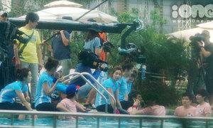 Sao Hàn tiếp tục vật lộn ở bể bơi sau khi chơi ở sân golf
