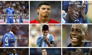 Ronaldo, Messi câm lặng trước Balotelli
