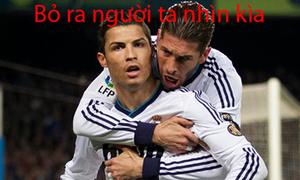 Ronaldo: 'Bỏ em ra đi anh, người ta nhìn kìa'