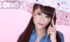 'Trà sữa' Vân Shi thổi ngọt ngào cho trang phục denim