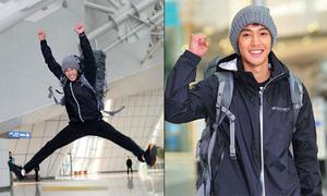 Kim Hyun Joong, Eun Hyuk hớn hở lên đường đến TP HCM
