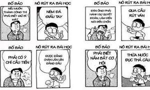 Khi Nobita hiểu méo mó lời dạy của bố