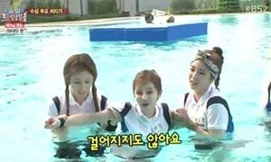 Boram (T-ara) suýt chết đuối ở bể bơi Hà Nội