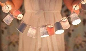 Đèn cốc giấy sôi động bữa tiệc mùa hè