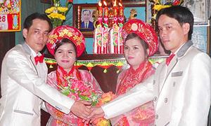 Đám cưới song sinh xôn xao An Giang