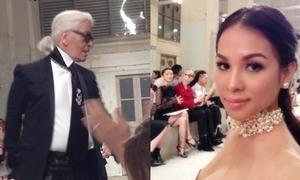 Amy Hương hội ngộ nhà thiết kế lừng danh Karl Lagerfeld