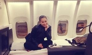 Thu Minh 'trình làng' phòng VIP trên máy bay