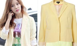 Copy sao: diện cả cây pastel tươi sáng giống Hyomin (T-ara)