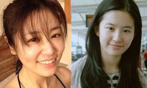 Nhan sắc mỹ nữ Hoa ngữ khi thiếu makeup