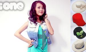Chọn mũ hợp váy cho Hoa khôi Imiss Thăng Long