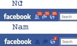 Cách dùng Facebook của con trai và con gái