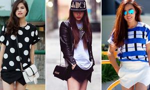 3 cách mix chuẩn với mốt 'quần lai váy' skort