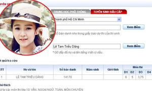 'Bản sao' Angela Phương Trinh lộ điểm thi kém