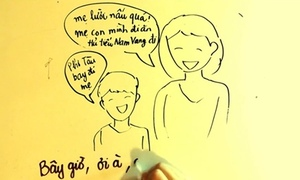 MV vẽ tay cảm động về tình mẹ
