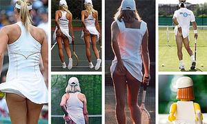 Những pha vén áo sờ mông 'kinh điển' trong tennis
