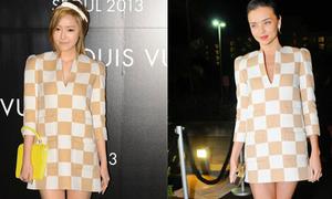 Jessica (SNSD) mix váy ô cờ cầu kỳ hơn Miranda Kerr