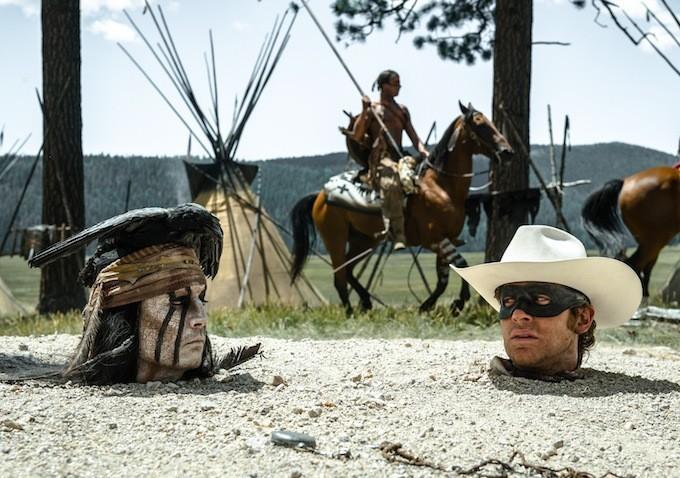 'Thổ dân' Johnny Depp tấu hài trong 'The Lone Ranger'