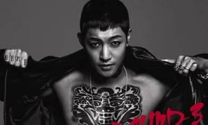 Kim Hyun Joong phanh ngực khoe hình xăm