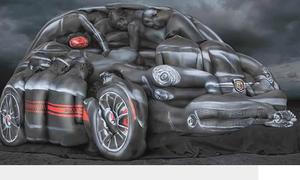 Xếp người thành ôtô nhờ body painting
