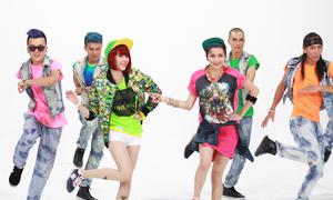 Chị em Thiều Bảo Trang nhảy cả ngày để quay MV