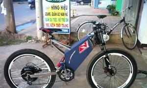 Xe đạp điện tự chế độc nhất Việt Nam