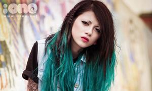 Lee Zin tattoo đổi gió với tóc loang xanh lét